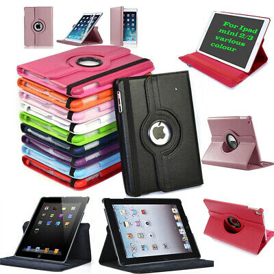 Case Cover For IPad Mini 123 Leather 360 Degree Rotating Smart Stand Various  • 3.79£