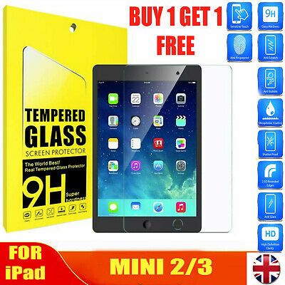 Real Tempered Glass Film Screen Protector For IPad Mini 1/2/3 9H Hardness 2 Pack • 3.99£