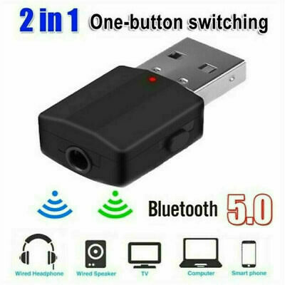 USB Bluetooth 5.0 Audio Transmitter Receiver Adapter For TV PC Car AUX Speaker • 4.99£