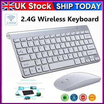 2.4G Waterproof Mini Wireless Keyboard And Mouse Set For Apple Mac PC Computer…… • 15.99£