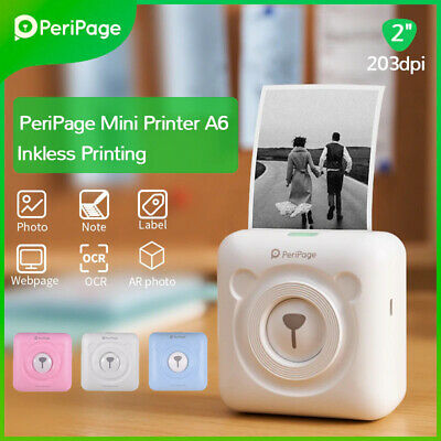 Lot PeriPage Mini BT Thermal Printer Paper Home Photo Label Pocket Printing • 33.99£