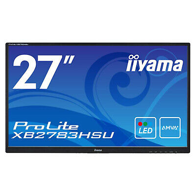 Iiyama ProLite XB2783HSU 27 Inch LED Monitor - Full HD, 4ms, Speakers, HDMI • 109.99£