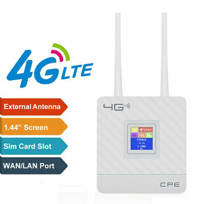 4G Hotspot Sim Card LTE WiFi CPE Router Wireless Repeater LAN Modem Dual Antenna • 35.99£