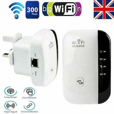WiFi Range Extender Super Booster 300Mbps Superboost Speed Wireless Repeater UK • 10.79£