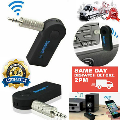 Wireless Car Bluetooth Receiver Adapter 3.5MM AUX Audio Stereo Music Hands-Free • 4.98£