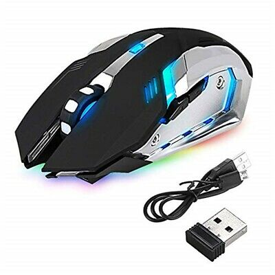 Led Laser Usb Wireless Optical Game Gaming Mouse Rechargable X7 • 8.16£