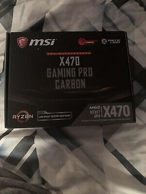Msi X470 Gaming Pro Carbon Motherboard ATX • 175£