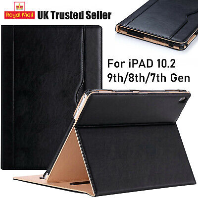 Apple IPad 10.2 8th,7th Generation 2020-19 Genuine Leather Flip Stand Case Cover • 7.95£