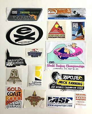 Selection Of Surf Stickers From Competitions In The 80s/90s/00s • 5£