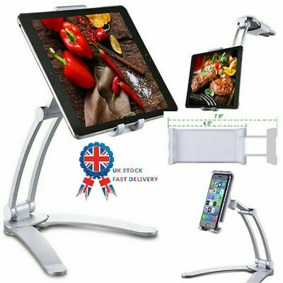Multifunction Kitchen Fold Wall Mount IPad Tablets Phone Stand Holder Bracket UK • 18.45£