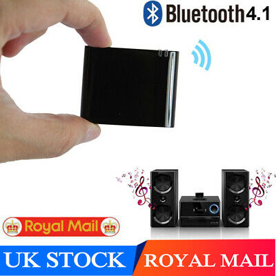 Music Receiver Audio Adapter Bluetooth 4.1 For IPod IPhone 30 Pin Dock Speaker • 8.79£