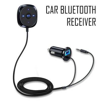 Bluetooth Audio Stereo Music Receiver Car AUX Adapter Cigarette USB Charger • 9.99£