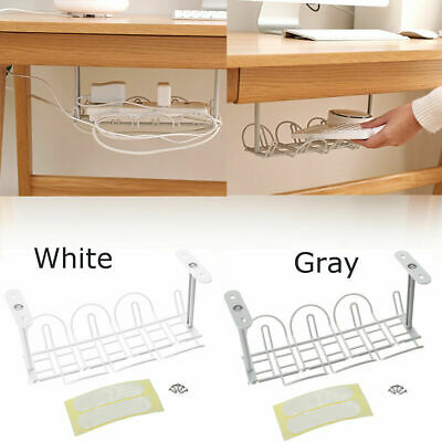 Under Desk Cable Management Tray Storage Organizer Cord Chargers Power Wire • 5.55£