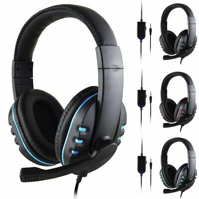 Gaming Headset For PS4, Xbox One, Nintendo Switch & PC 3.5mm Headphones With Mic • 9.99£