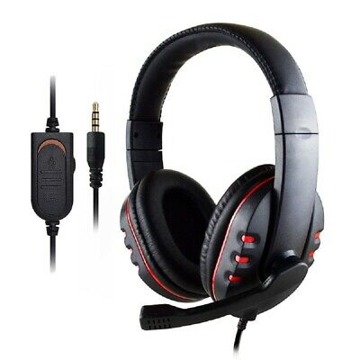Gaming Headset For Xbox One PS4 Nintendo Switch PC Mac 3.5mm Headphones With Mic • 11.98£