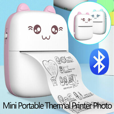 Mini Portable Photo Pocket Label Sticker Receipt Printer Mobile Thermal Printer • 21.99£