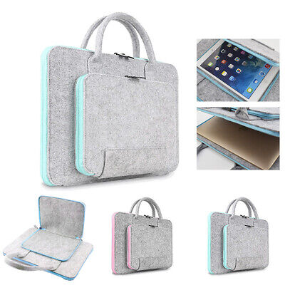 Wool Felt Laptop Bags 11 13 15 17 Inch Tablet Mouse Bags Briefcase For Laptop • 8.99£