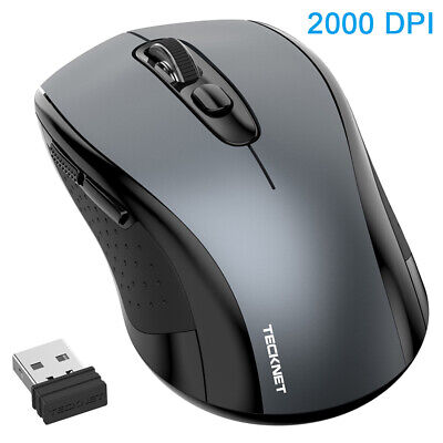 TeckNet Wireless Mouse 2.4GHz USB Cordless Optical Mice On/Off For PC Laptop Mac • 11.49£