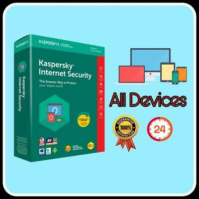 Kaspersky Internet Security Antivirus 2020 1year For Pc/mac/android • 3.69£