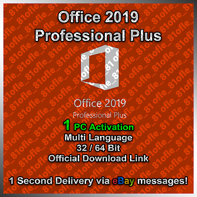 🔥🔥ms Office 2019 Professional Plus 32/64 Bit License Key🔥instant Delivery🔥🔥 • 3.22£