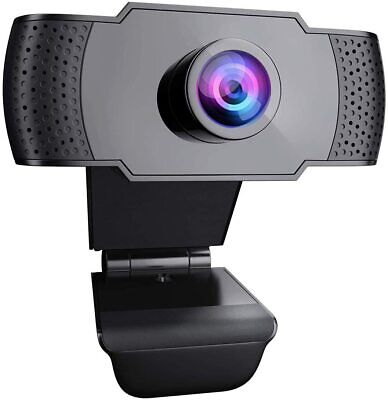 1080p Webcam With Microphone Video Camera  Full HD USB For PC Desktop Laptop Mic • 10.99£