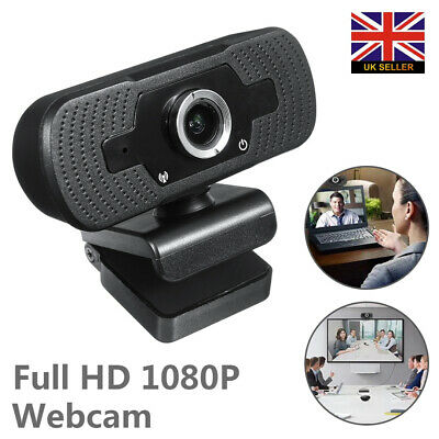 Full HD 1080P Webcam Video Camera With USB Microphone For PC Desktop Laptop OS • 11.95£