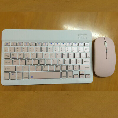 Slim Bluetooth Wireless Keyboard And Cordless Optical Mouse For Tablet PC Laptop • 14.99£