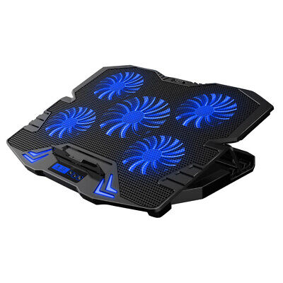 Netbook Cooler With Fans Adjustable Laptop Cooling Pad Silent Cooling Stand • 17.99£