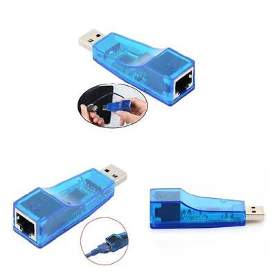 Ethernet RJ45 To USB 2.0 LAN Network Card Adapter PC Laptop 10/100Mbps Dongle UK • 2.90£