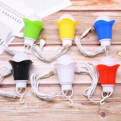 Portable USB Mini LED Night Lights Camping Light Lamps Bulbs Power Bank Laptops • 5.50£