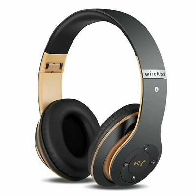 Bluetooth Headset Noise Cancelling Wireless Headphones Over Ear With Microphone • 10.39£