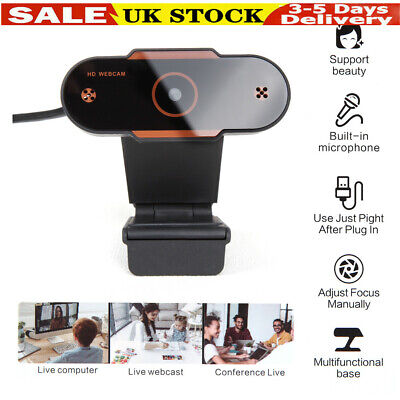 1080P 30fps Full HD Web Cam USB With Microphone MIC Tripod For PC Desktop Laptop • 11.99£