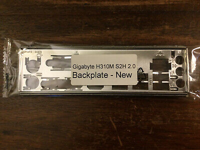 Backplate For Gigabyte H310M S2H 2.0 Motherboard (new I/O Shield Rear Plate 3d) • 8£