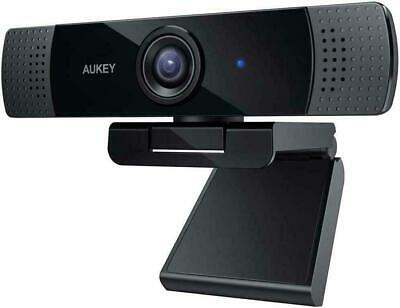 Aukey Full HD (1080p) Webcam For Video Chat With Stereo Microphone - Black - USB • 38.99£