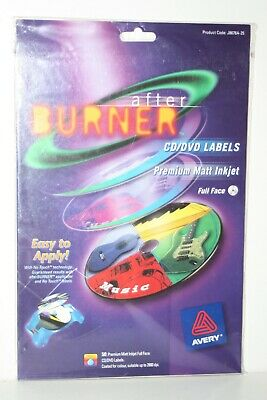 Avery - After Burner 50 CD / DVD Labels  - Premier Matt Inkjet - Full Face New • 15£