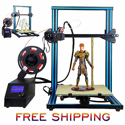 UK 3D Printer A10S 2 Z-axis V-slot Large Size 300*300*400mm LCD Controller + PLA • 169£