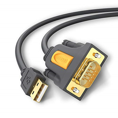 UGREEN 20210 USB Serial Cable, USB To RS232 DB9 9 Pin Converter Cable 1m For And • 13.50£