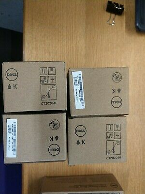 4 X Original Toner Dell 1250c CT202046 Black  • 200£