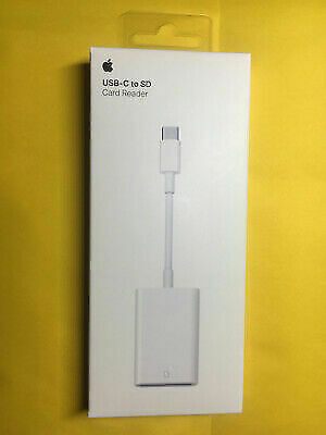 Apple USB-C To SD Card Reader Cable - White (A2082) Genuine • 29£