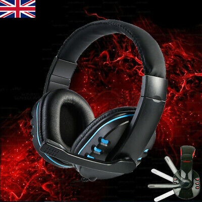 Stereo Video Gaming Headset For Xbox One PS4 Nintendo Switch & PC Mic Headphone • 11.36£