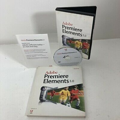 Adobe Premier Elements 3.0 With Disc, Instructions , Serial Number And Manual. • 19.95£
