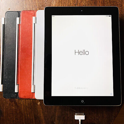 Apple IPad 1st Gen. 32GB, Wi-Fi, 9.7in - Black + 3 LEATHER MAGNETIC CASES • 39.99£