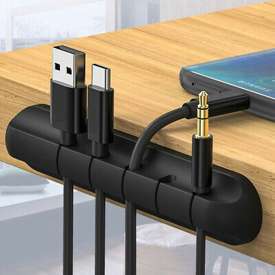 UK Self-adhesive Desktop USB Charger Cable Winder Headphone Wire Storage Holder~ • 2.88£