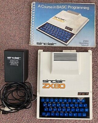 Sinclair ZX80 Computer (with Original Manual And Power Supply) • 120£