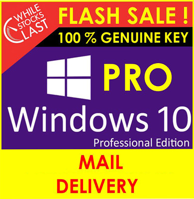 Upgrade Wind10 Home To Pro Edition 32/64 Bit License Key • 3£