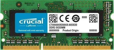 Brand New Crucial RAM CT102464BF160B 8 GB DDR3 1600 MHz CL11 Laptop Memory • 34.21£