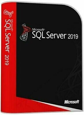 SQL Server 2019 Standard Product Key License MS Unlimited CPU Cores Genuine • 30£