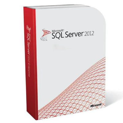 SQL Server 2012 Standard Product Key License MS Unlimited CPU Cores Genuine • 31£