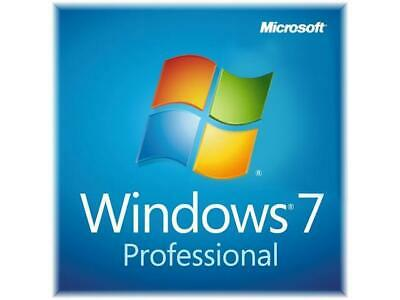 Genuine Microsoft Windows 7 Licence Code Sticker + CD • 9£