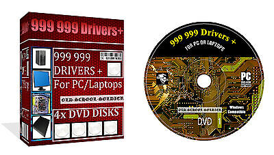 999 999  Drivers Huge Collection  4x Dvd Disks For Pc & Laptop For All Windows • 4.49£